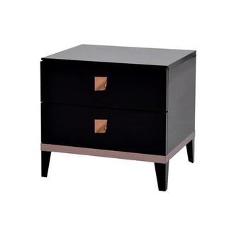 Mont Blanc Black Nightstand Made in Italy