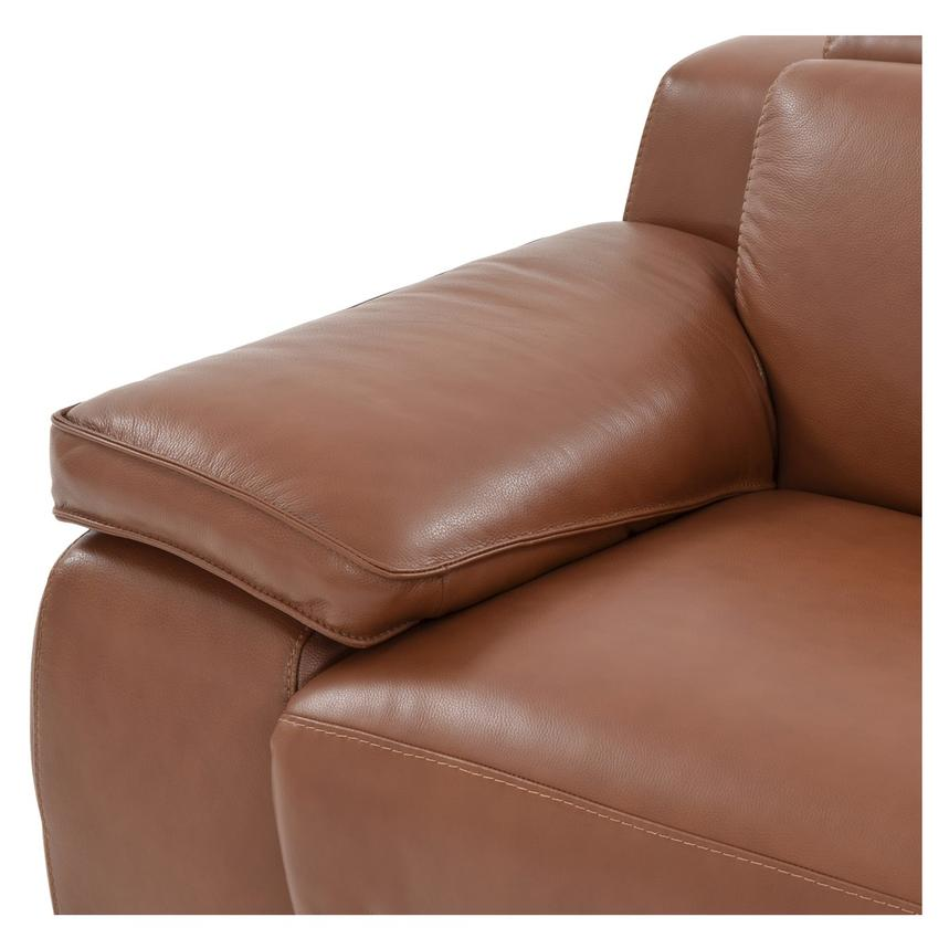 Gian Marco Tan Power Motion Leather Loveseat  alternate image, 5 of 9 images.