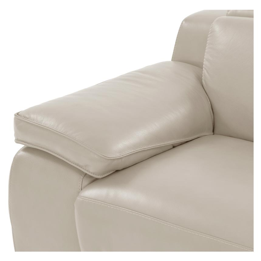 Gian Marco Cream Power Motion Leather Loveseat  alternate image, 5 of 8 images.