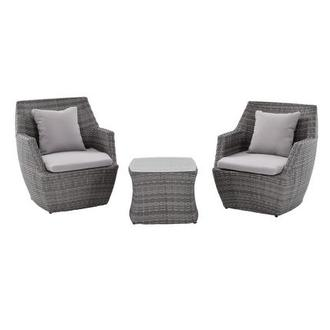 Neilina Gray 3 Piece Patio Set