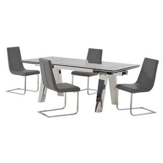 Madox/Lea Gray 5-Piece Formal Dining Set