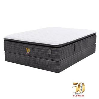 50th Anniversary Soft King Mattress Set w/Low Foundation by Carlo Perazzi