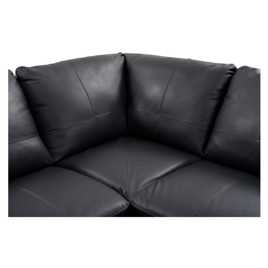Rio Dark Gray Leather Sofa w/Right Chaise  alternate image, 4 of 8 images.