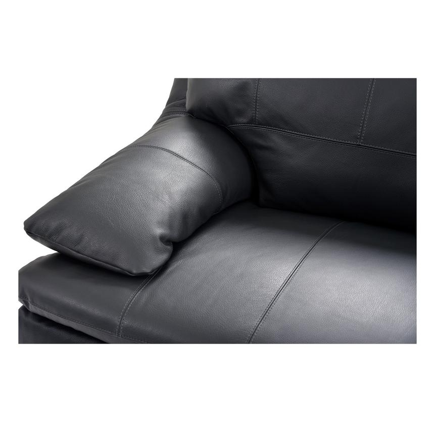 Rio Dark Gray Leather Sofa W/Right Chaise Alternate Image, 5 Of 8 Images