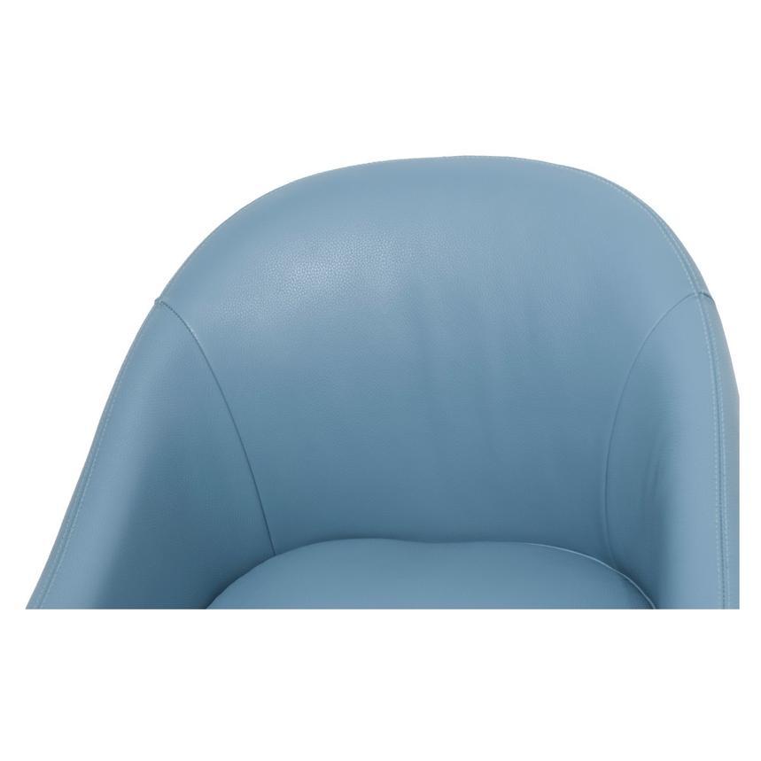 Brookville Blue Leather Swivel Chair El Dorado Furniture