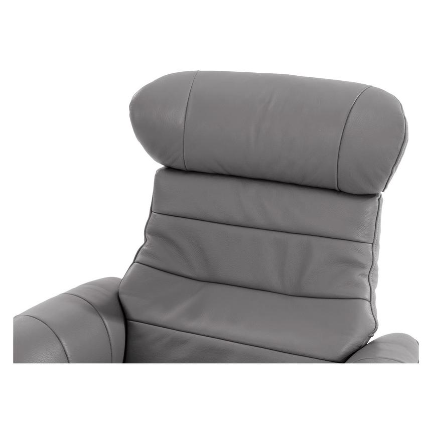 Merveilleux Enzo Gray Leather Swivel Chair Alternate Image, 5 Of 10 Images.