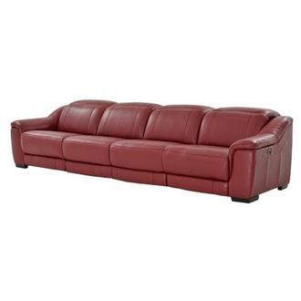 Davis Red Oversized Leather Sofa