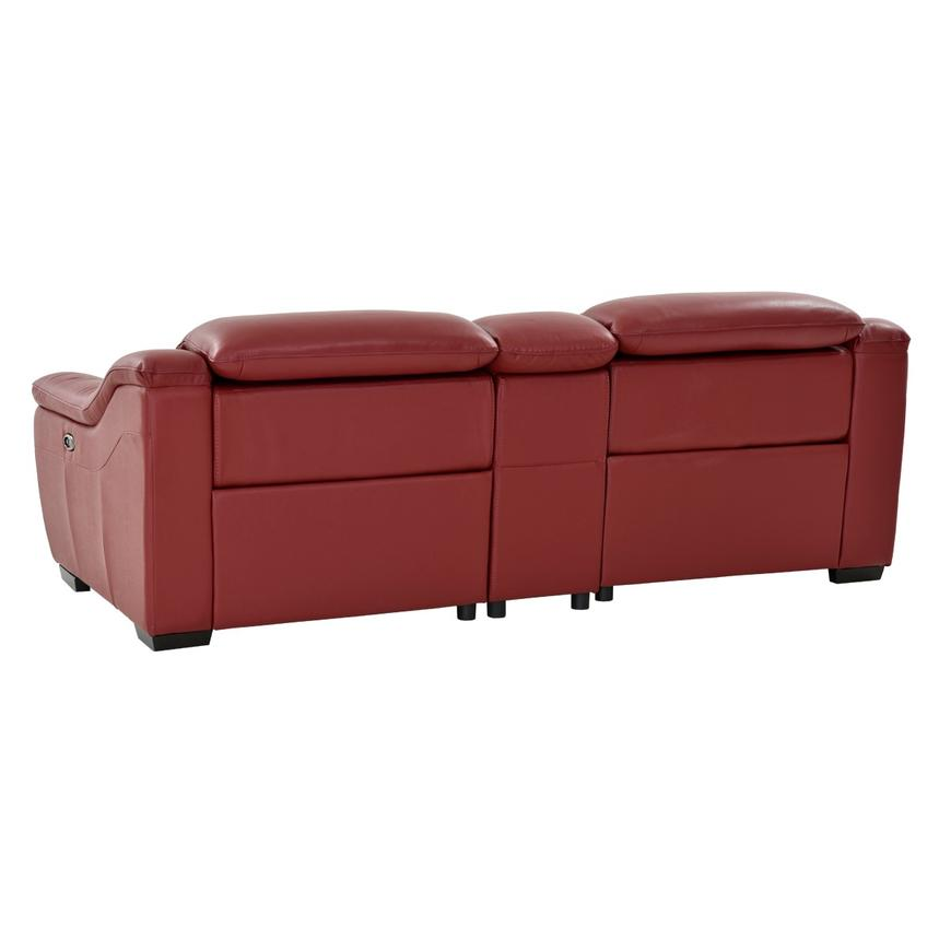 Davis Red Power Motion Leather Sofa w/Console  alternate image, 4 of 13 images.