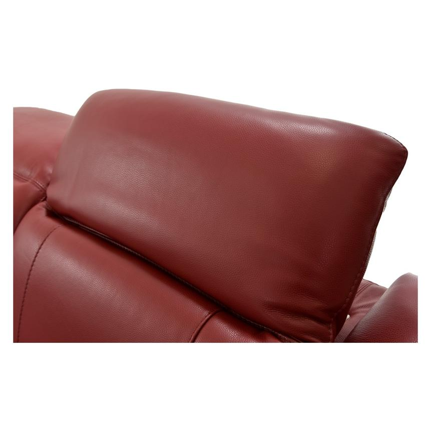 Davis Red Power Motion Leather Sofa w/Console  alternate image, 9 of 13 images.