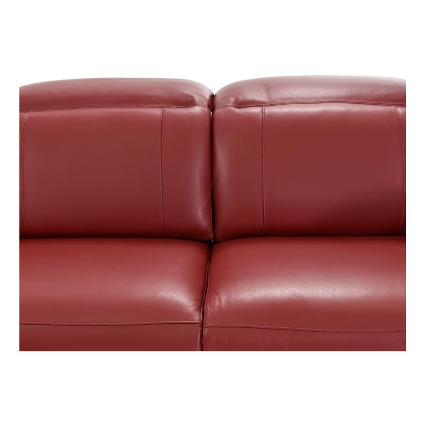 Davis Red Power Motion Leather Sofa w/Right & Left Recliners  alternate image, 4 of 13 images.