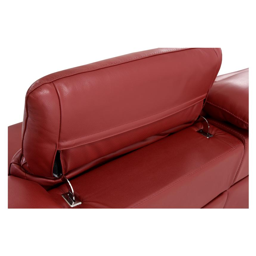 Davis Red Power Motion Leather Sofa w/Right & Left Recliners  alternate image, 9 of 12 images.