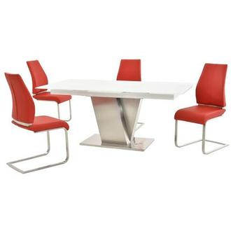 Maday Red 5-Piece Formal Dining Set