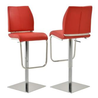 Maday Red Adjustable Stool