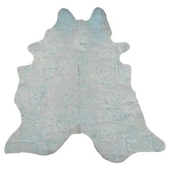 Metalhide Blue Natural Cowhide