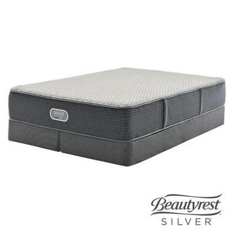 New London HB King Mattress w/Low Foundation by Simmons Beautyrest Silver