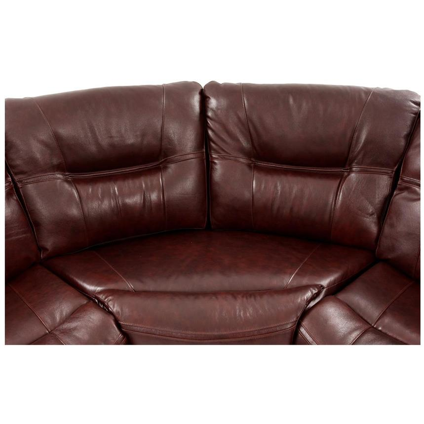 Houston Brown Power Motion Leather Sofa w/Console  alternate image, 5 of 9 images.