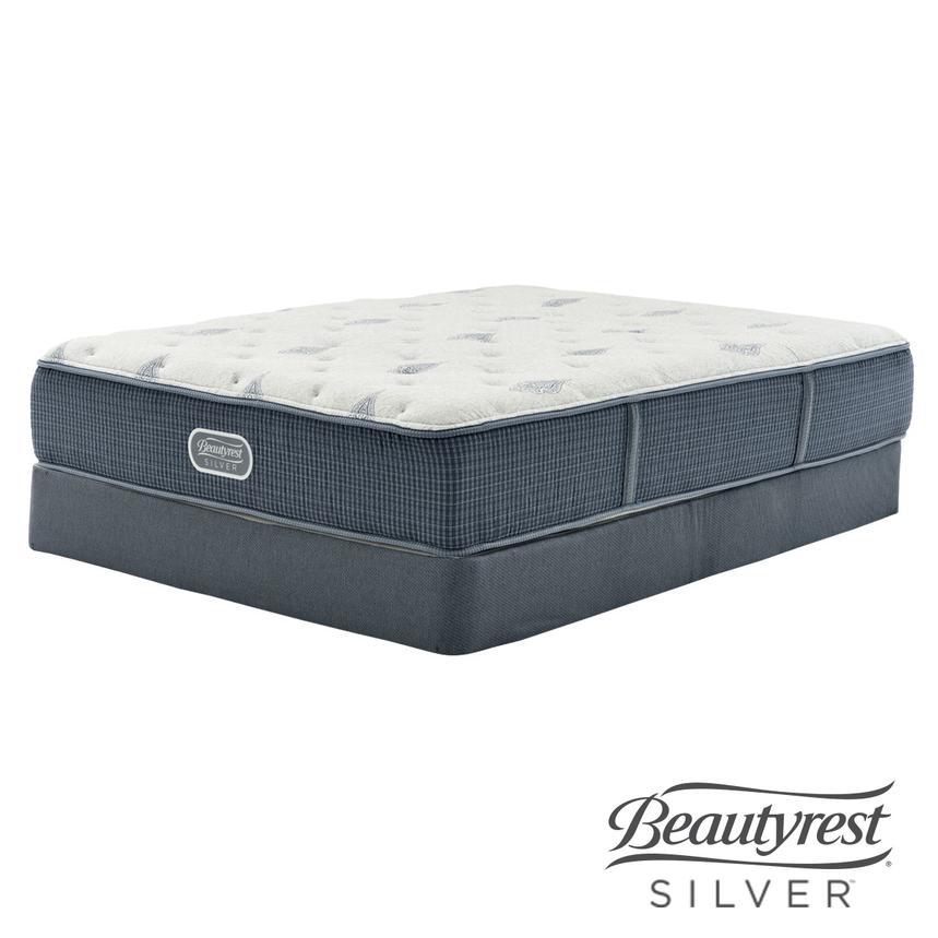 Bay Point Twin Mattress w/Low Foundation by Simmons Beautyrest Silver  main image, 1 of 5 images.