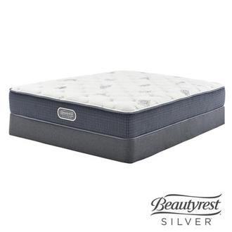 Ocean Springs Twin Mattress w/Low Foundation by Simmons Beautyrest Silver