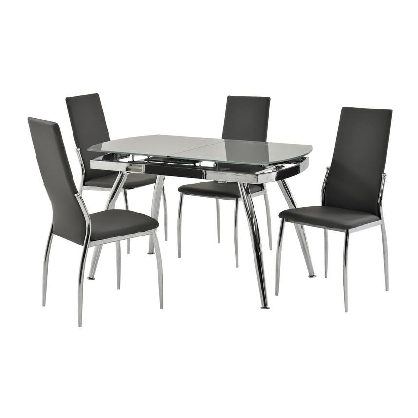 Luna Gray 5-Piece Casual Dining Set  main image, 1 of 12 images.