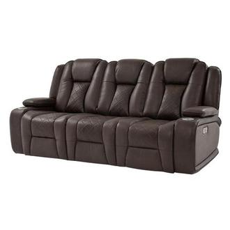 Chanel Brown Power Motion Sofa