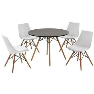 Annette White 5-Piece Casual Dining Set