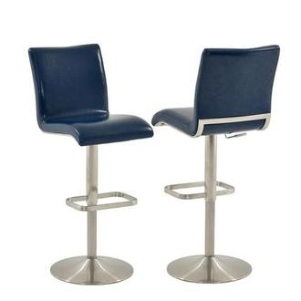Fogo Blue Adjustable Stool