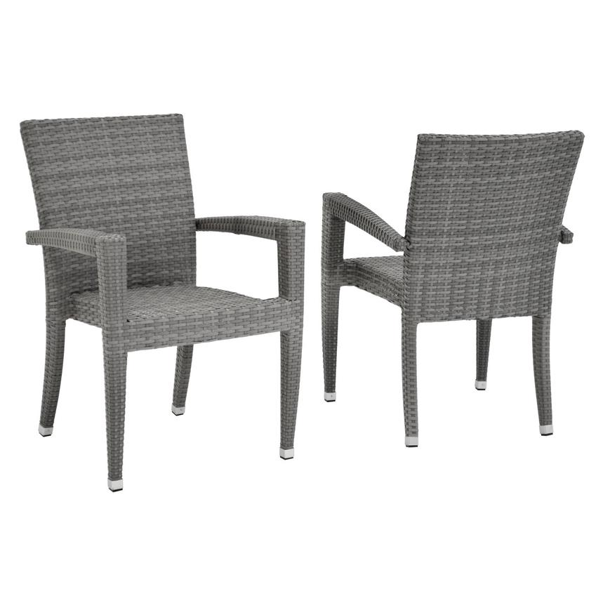 Gerald/Neilina Gray 3-Piece Patio Set w/10mm Glass Top  alternate image, 5 of 9 images.