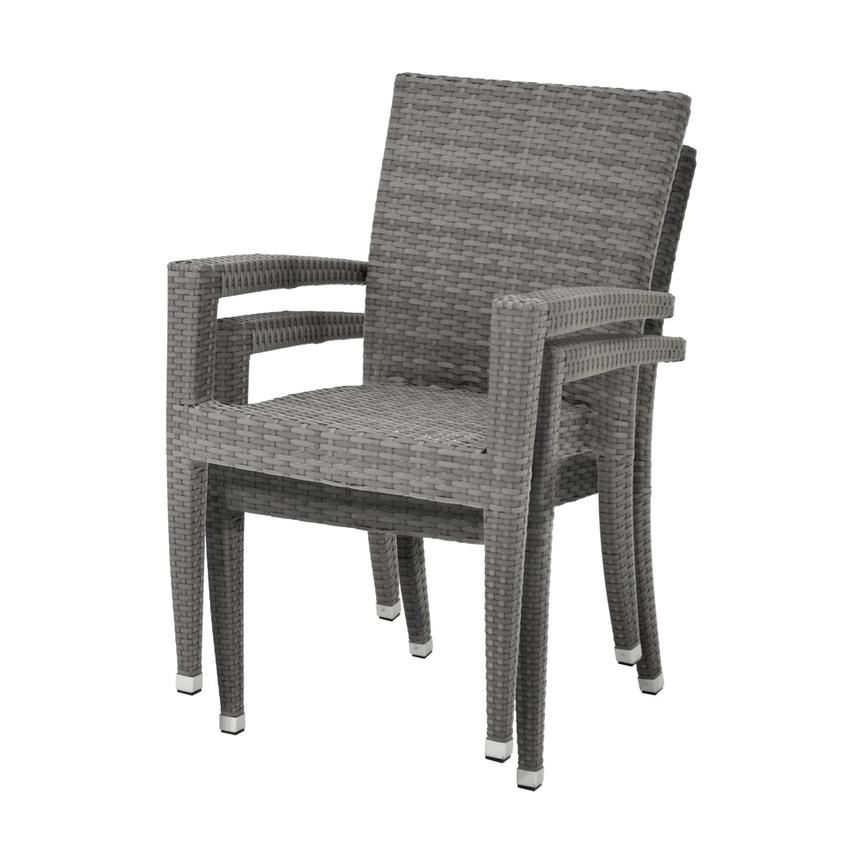 Gerald/Neilina Gray 3-Piece Patio Set w/10mm Glass Top  alternate image, 9 of 9 images.