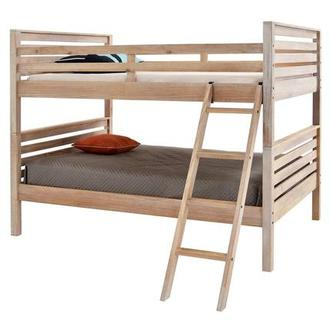 Montauk Natural Full Over Full Bunk Bed Made in Brazil