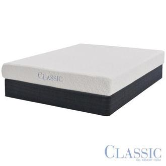 Ashbourne Memory Foam Twin Mattress Set w/Regular Foundation by Classic Brands