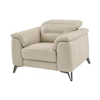 Anabel Cream Power Motion Leather Recliner