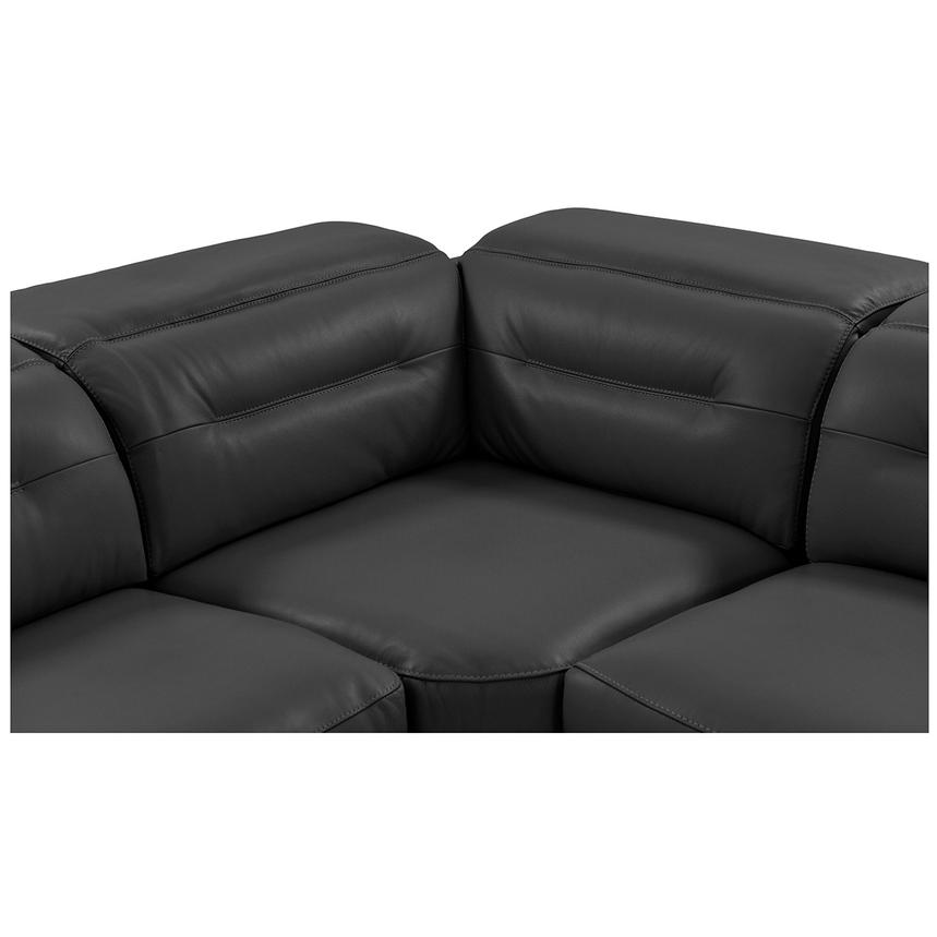 Anabel Gray Power Motion Leather Sofa w/Right & Left Recliners  alternate image, 5 of 11 images.