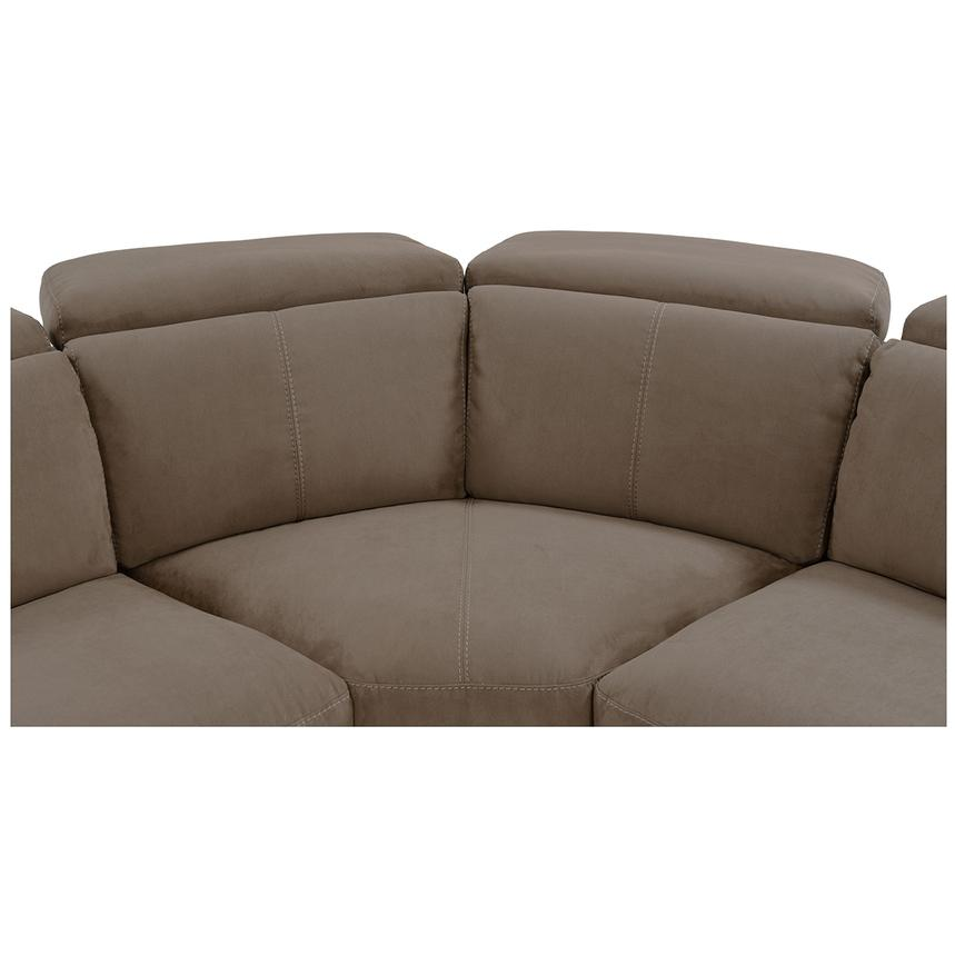 Jameson Brown Power Motion Sofa w/Right & Left Recliners  alternate image, 5 of 9 images.