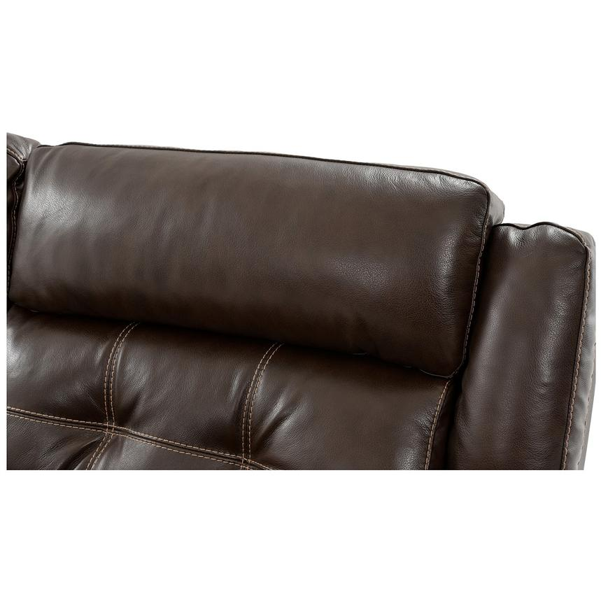 Stallion Brown Power Motion Leather Sofa w/Right & Left Recliners  alternate image, 5 of 9 images.