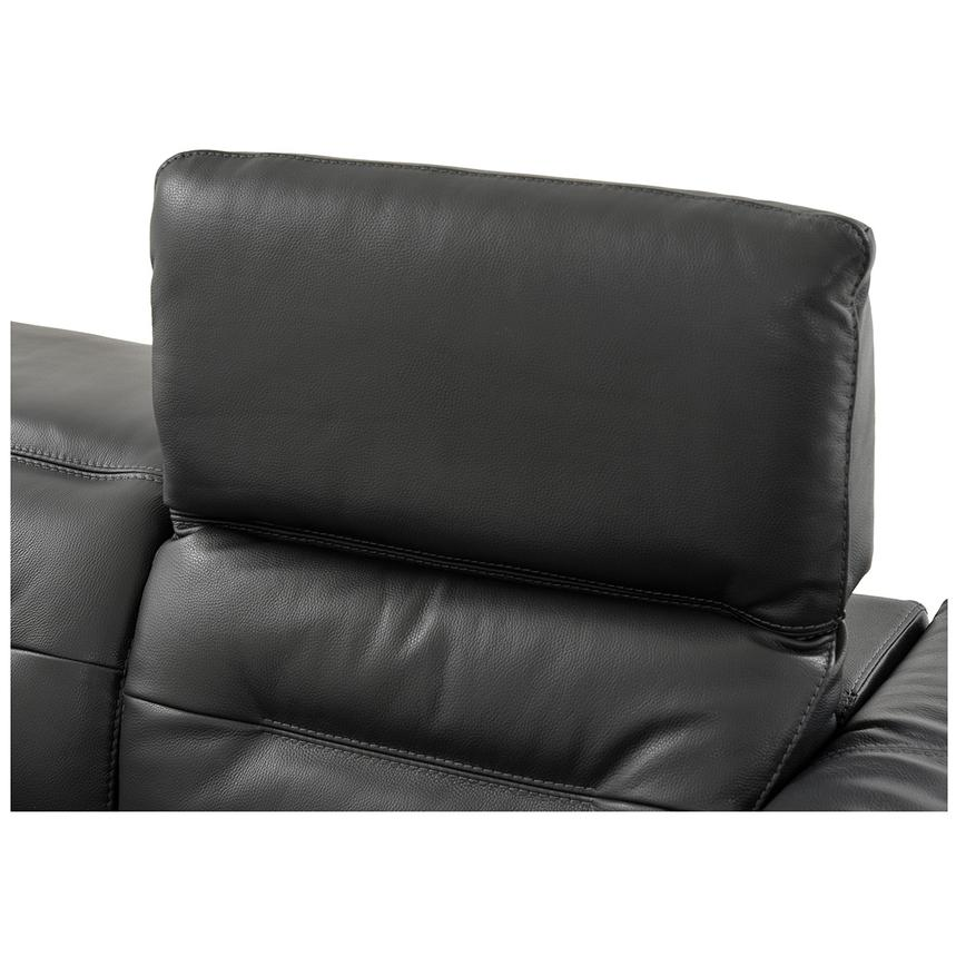 Anabel Gray Power Motion Leather Sofa w/Right & Left Recliners  alternate image, 9 of 12 images.