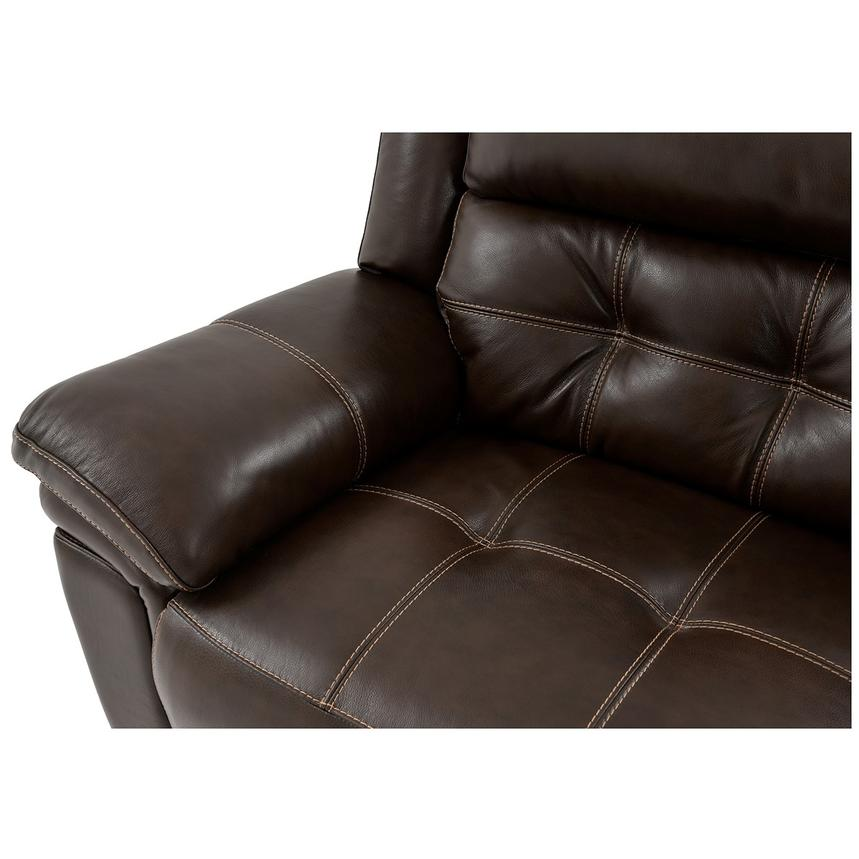 Stallion Brown Power Motion Leather Sofa w/Right & Left Recliners  alternate image, 9 of 10 images.