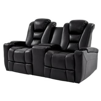 Transformer II Black Power Motion Sofa w/Console