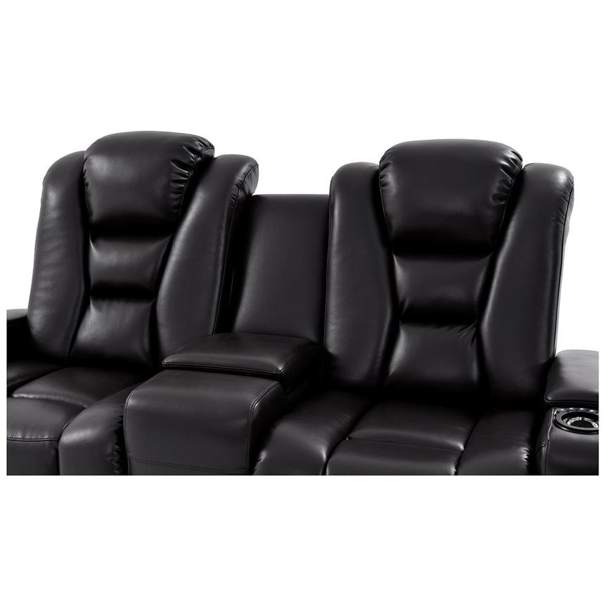 Transformer II Black Power Motion Sofa w/Console  alternate image, 5 of 10 images.