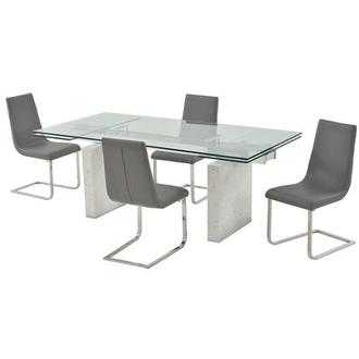 Industria/Lea Gray 5-Piece Formal Dining Set