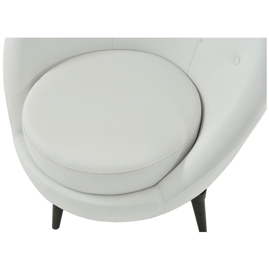 Rosa White Swivel Accent Chair El Dorado Furniture