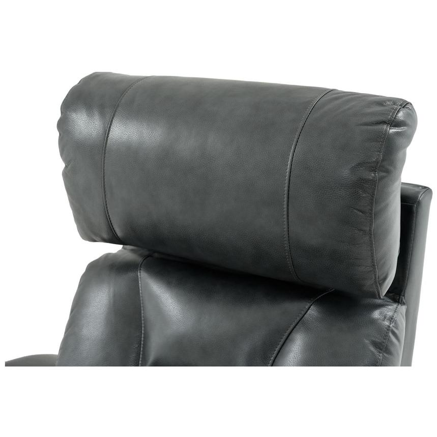 Gio Gray Power Motion Leather Recliner  alternate image, 10 of 11 images.