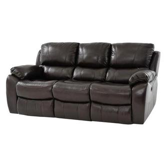 Mack Brown Power Motion Leather Sofa