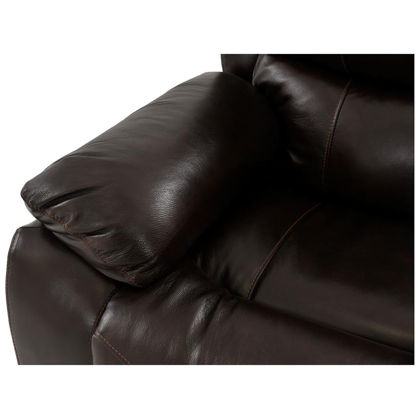 Mack Brown Power Motion Leather Sofa  alternate image, 5 of 6 images.