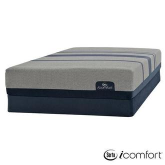 iComfort Blue Max 1000 Plush Queen Mattress w/Low Foundation by Serta