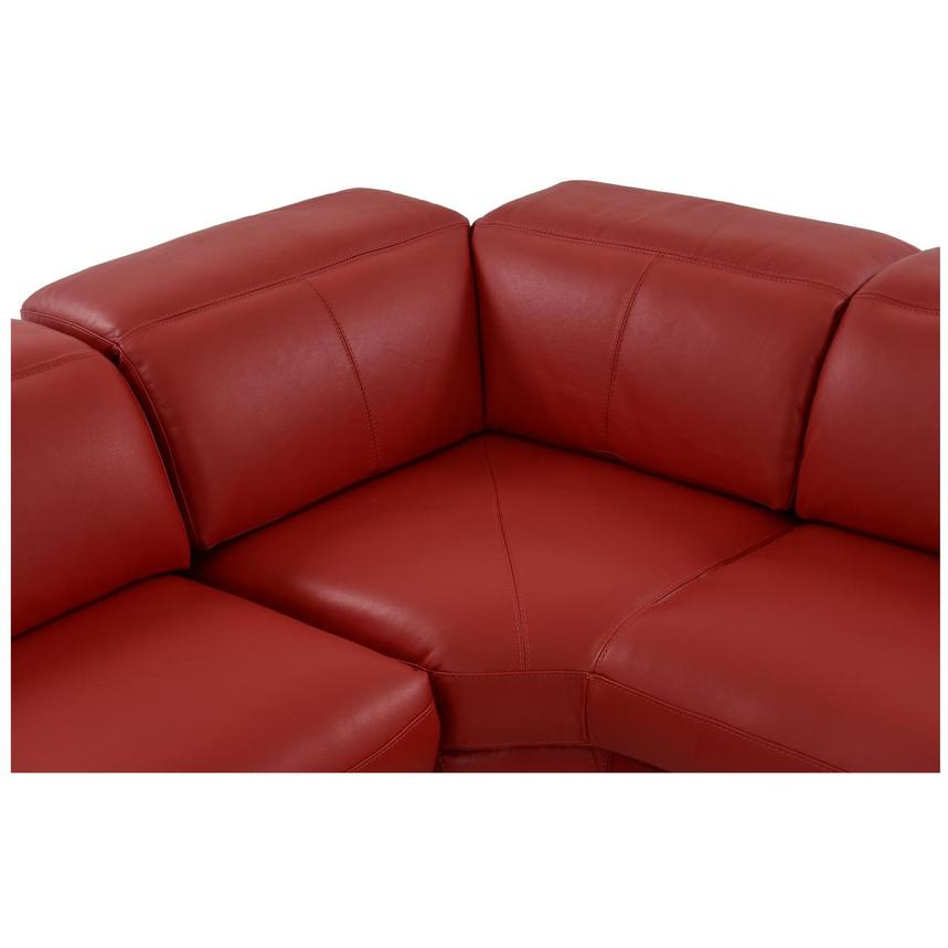 Toronto Red Power Motion Leather Sofa w/Right Chaise  alternate image, 5 of 12 images.