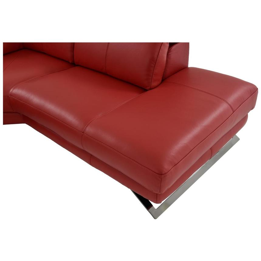 Toronto Red Power Motion Leather Sofa w/Right Chaise  alternate image, 10 of 12 images.
