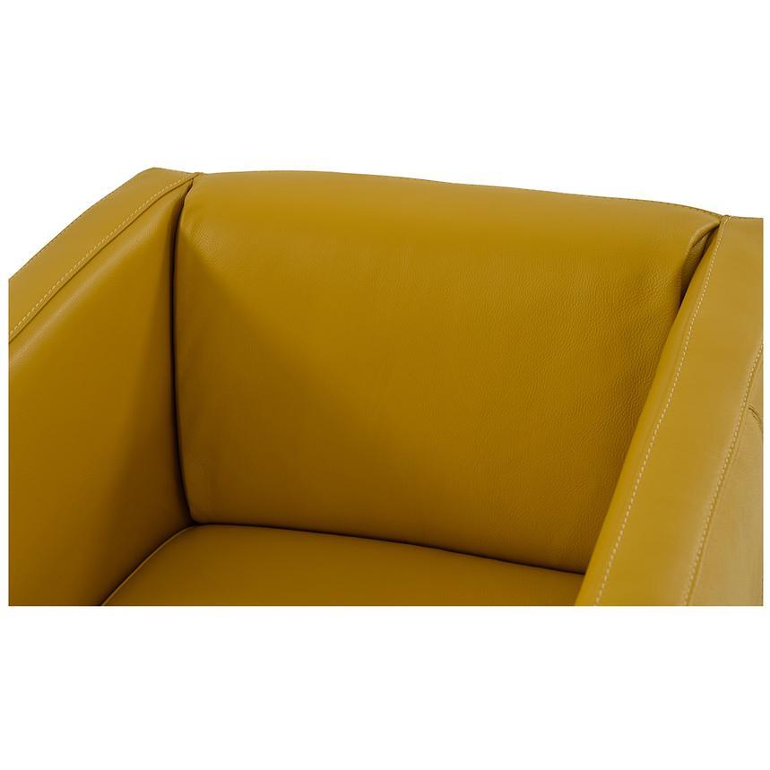Cute Yellow Leather Swivel Chair El Dorado Furniture