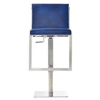 Aventura Blue Adjustable Stool
