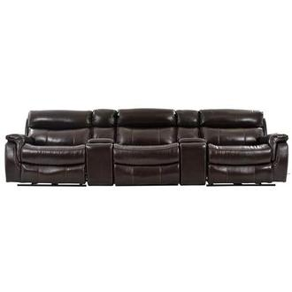 Jeremi Home Theater Leather Seating