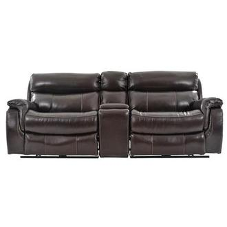 Jeremi Power Motion Leather Sofa w/Console